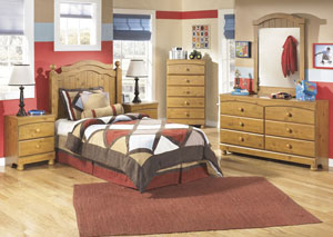 Stages Twin Panel Headboard, Dresser & Mirror