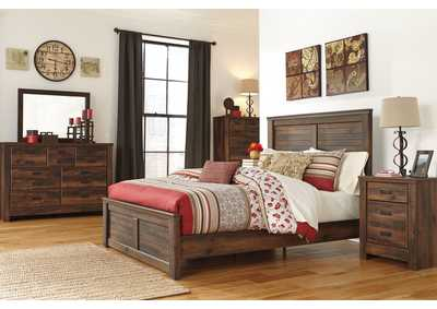 Quinden Queen Panel Bed, Dresser, Mirror, Chest & Night Stand