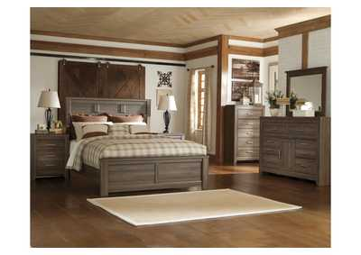 Juararo Queen Panel Bed, Dresser, Mirror, Chest & Night Stand