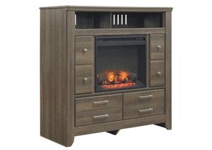 Juararo Media Chest w/ LED Fireplace Insert