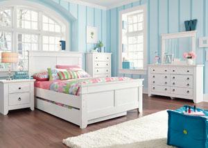 Iseydona Full Panel Storage Bed, Dresser & Mirror