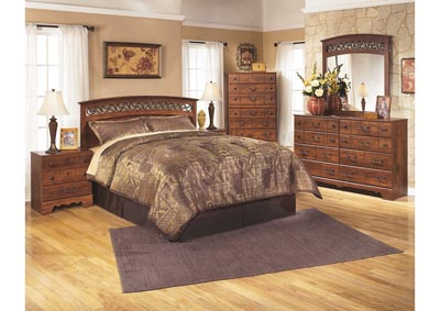 Timberline Queen/Full Panel Headboard, Dresser, Mirror & Chest,Signature Design by Ashley