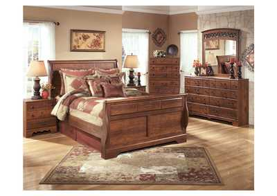 Timberline Queen Sleigh Bed, Dresser & Mirror