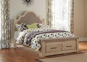 Annilynn Queen Upholstered Storage Bed