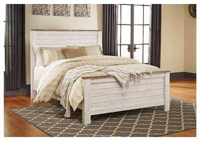 Willowton Whitewash Queen/Full Panel Bed,Signature Design by Ashley