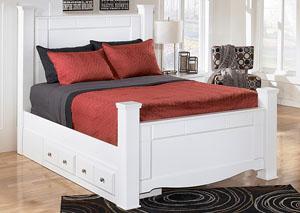 Weeki King Poster Storage Bed