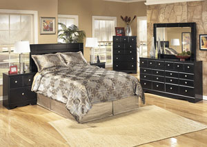 Shay Queen/Full Panel Headboard, Dresser, Mirror, Chest & Night Stand