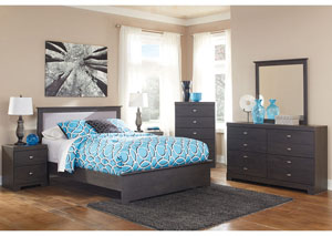Shylyn Queen Panel Bed, Dresser & Mirror
