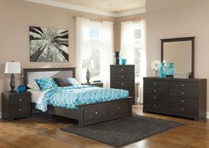 Shylyn Queen Storage Bed, Dresser & Mirror