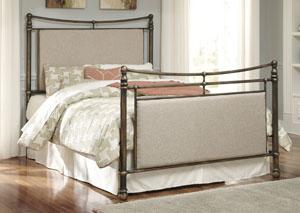 Copper Finish Metal Queen Bed