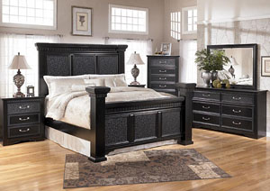 Cavallino King Mansion Bed, Dresser & Mirror