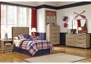 Dexifield Twin Panel Headboard, Dresser, Mirror & Chest,Signature Design by Ashley
