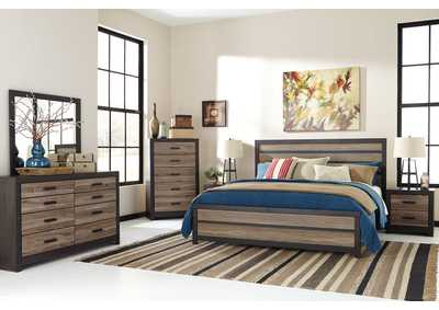 Harlinton Queen Panel Bed, Dresser, Mirror & Night Stand