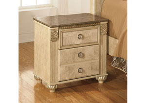 Saveaha Two Drawer Night Stand