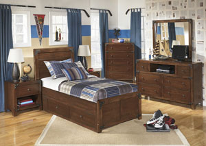 Delburne Twin Storage Bed w/ Dresser & Mirror,Signature Design by Ashley