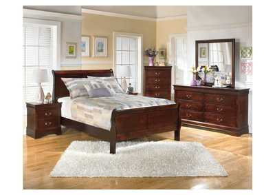 Alisdair Full Sleigh Bed, Dresser, Mirror & Night Stand