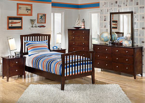 Rayville Twin Panel Bed, Dresser & Mirror