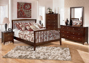 Rayville Queen Panel Bed, Dresser & Mirror