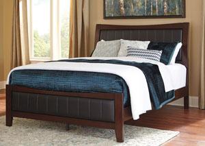 Dirmack Medium Brown Queen Upholstered Panel Bed