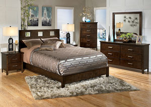 Winlane Queen Panel Bed, Dresser & Mirror