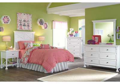 Kaslyn Twin Panel Headboard, Dresser & Mirror