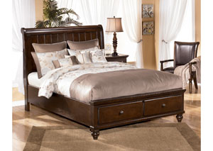 Camdyn King Sleigh Bed w/ Storage