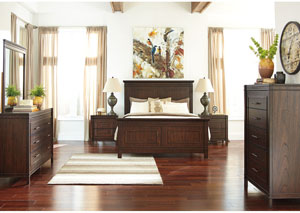 Timbol Warm Brown Queen Panel Bed,Signature Design by Ashley