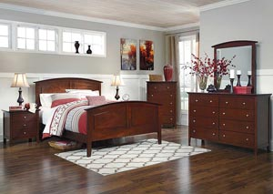 Colestead Queen Sleigh Bed, Dresser & Mirror