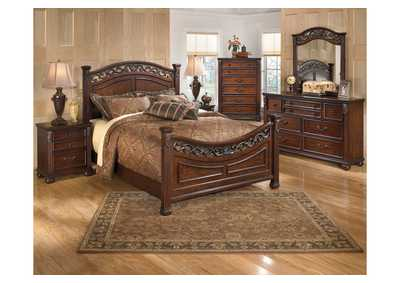Leahlyn Queen Panel Bed, Dresser, Mirror, Chest & Night Stand,Signature Design by Ashley