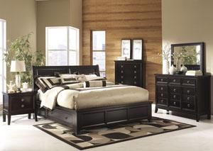 Martini Suite Queen Storage Bed, Dresser & Mirror