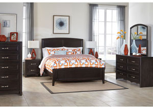 Braymore Queen Sleigh Bed, Dresser, Mirror & Chest