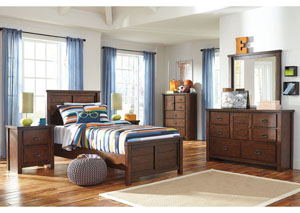 Ladiville Twin Panel Bed, Dresser, Mirror, Chest & Night Stand,Signature Design by Ashley