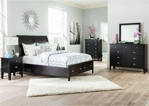 Braflin Queen Storage Bed, Dresser & Mirror,Signature Design by Ashley