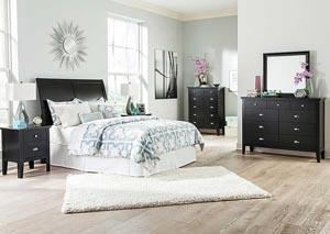 Braflin Queen Sleigh Headboard, Dresser & Mirror
