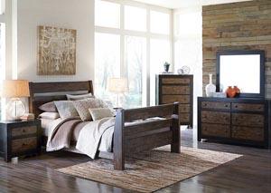 Emerfield Queen Sleigh Bed, Dresser & Mirror,Signature Design by Ashley