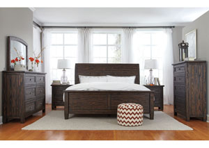 Trudell Golden Brown King Panel Bed w/ Dresser, Mirror, Drawer Chest and Nightstand,Signature Design by Ashley