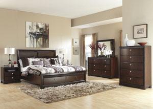 Marxmir Queen Storage Bed, Dresser & Mirror