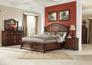 Brennville Queen Panel Bed, Dresser, Mirror, Chest & Night Stand