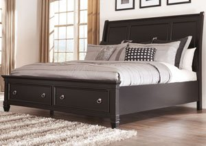 Greensburg Queen Storage Sleigh Bed, Dresser, Mirror, Chest & Night Stand,Signature Design by Ashley