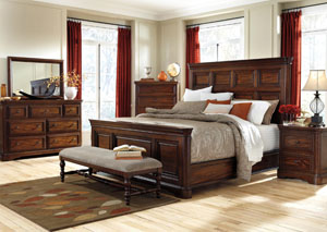 Leximore Queen Panel Bed, Dresser, Mirror, Chest & Night Stand