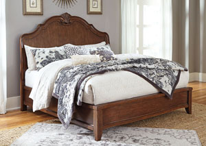 Balinder Medium Brown Queen Sleigh Bed,Signature Design by Ashley