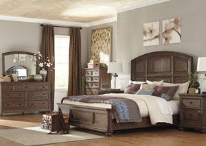 Maeleen Queen Platform Bed w/  Dresser and Mirror