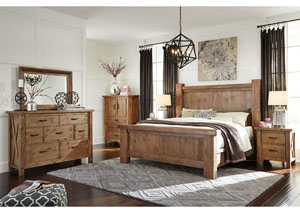 Tamilo King Poster Bed w/ Dresser and Mirror,Signature Design by Ashley