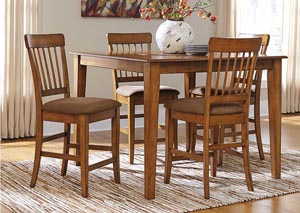 Berringer Square Counter Height Table w/ 4 Stools