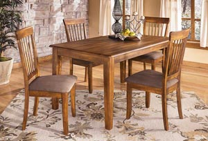 Berringer Rectangular Dining Room Table Dining & 4 Chairs,Ashley
