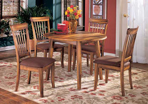 Berringer Drop Leaf Table w/ 4 Side Chairs