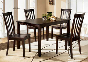 Hyland Rectangular Dining Table w/ 4 Chairs