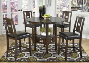 Logan Counter Height Table w/ 4 Stools