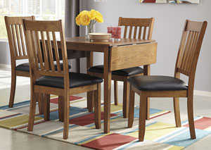 Joveen Dining Room Drop Leaf Table w/ 4 Side Chairs