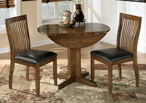Stuman Round Drop Leaf Table & 2 Side Chairs,Signature Design by Ashley